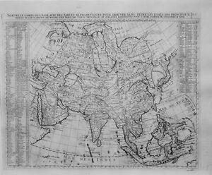 Antique-map-Nouvelle-carte-de-l-039-Asie