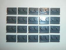 LEGO STAR WARS   20 Bauplatten mit Schiene 32028 dark stone grey 1x2 Noppen  NEU