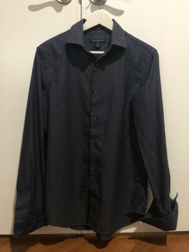 Banana Republic Fitted Dark Navy Button Down Shirt
