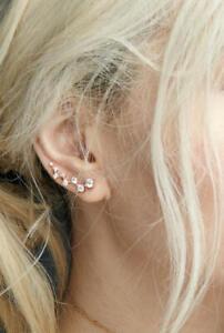 Diamant-Ohrstecker-Paar-Ohrringe-Ohr-16-Diamanten-0-45-Carat-VS-585er-14K-Gold