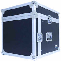 8 Space Rack Case With Slant Mixer Top - Amp Effect Pa/dj Pro Audio Road Case on sale