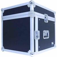 8 Space Rack Case With Slant Mixer Top - Amp Effect Pa/dj Pro Audio Road Case on Sale