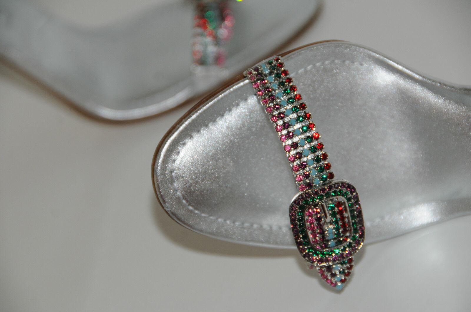 Nuovo Manolo Blahnik Ingioiellato Cristalli argentoo Janetba Scarpe 38.5 38.5 38.5 d70eef