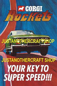 Corgi-Toys-Rockets-1970-039-s-Large-A3-Size-Poster-Advert-Leaflet-Shop-Display-Sign