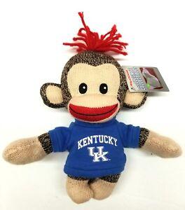 Ncaa Kentucky Wildcats Uniform Curioso Sockie Monkey New Plush Toy