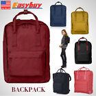 Men's Canvas Leather Backpack Rucksack Camping School Satchel Travel Hiking Bag