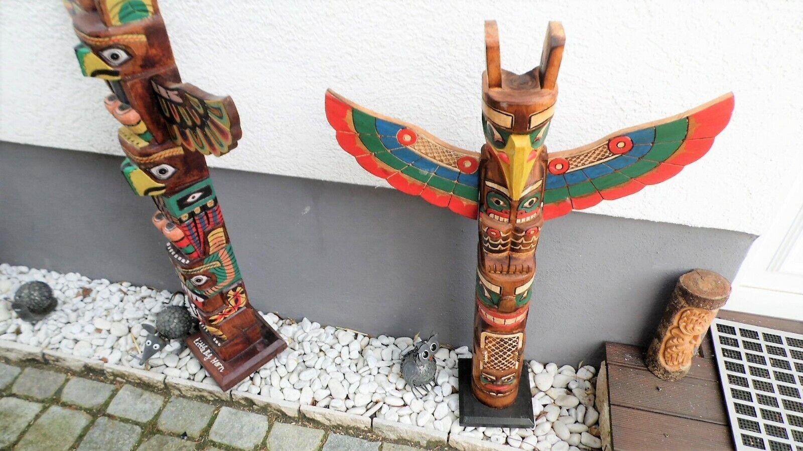 Totempfahl 60cm,Marterpfahl, Indianer Pfahl, Wappenpfahl,totem pole,totem stake