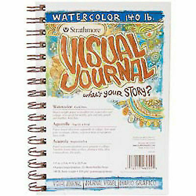 Wire Bound 22 Sheets Strathmore 400 Series Visual Watercolor Journal 140 LB 5.5x8 Cold Press