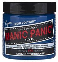 (2 Pack) Manic Panic Semi-permament Haircolor Atomic Turquoise 4oz