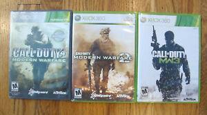 Call of Duty Modern Warfare 1, 2 & 3 Lot - Microsoft Bundle Xbox 360 - Tested