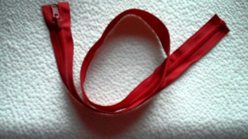 30 inch Red Vislon #5 Reversible /& Separating Vislon Ideal Zipper New!