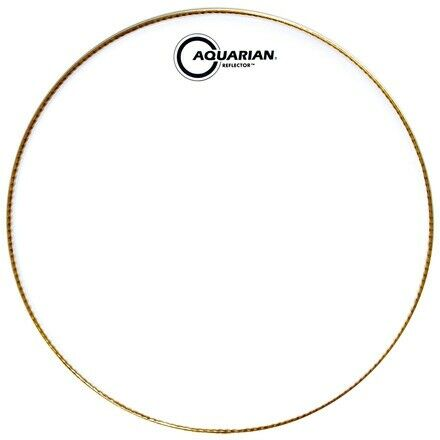 "Aquarian 14/"" Ice White Reflector Series Drumhead"