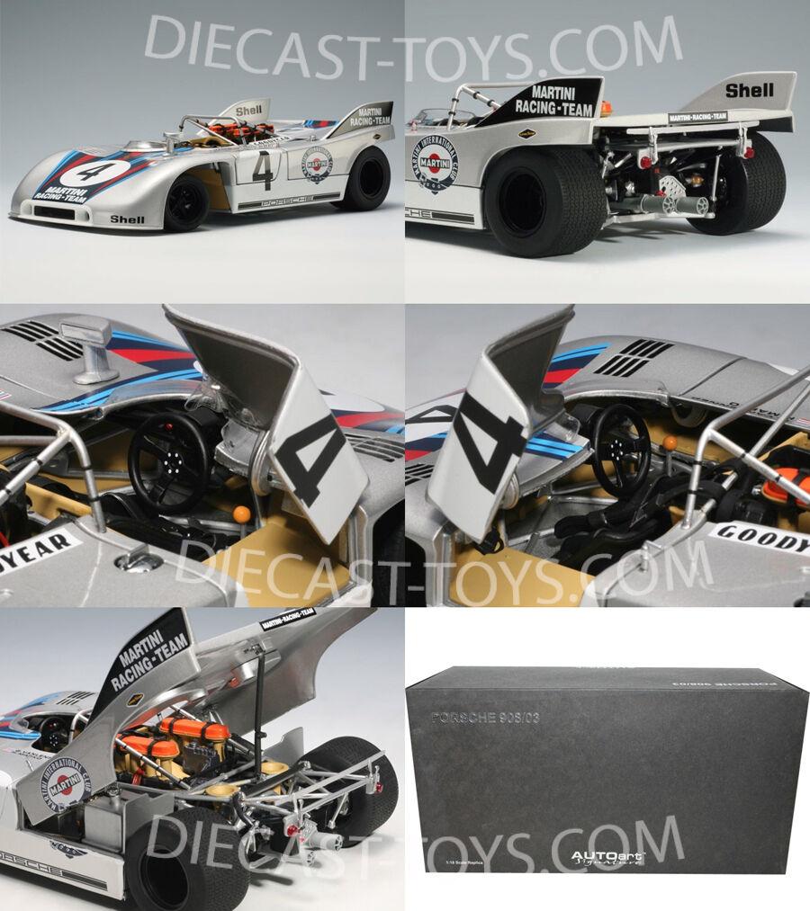 1:18 Autoart Porsche 908/03 Martini Racing Nürburgring 1971 #4 Marko /