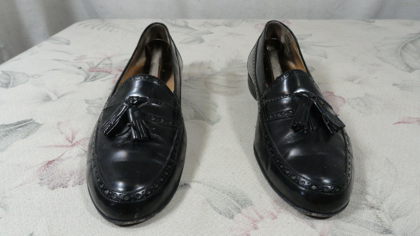 BALLY DAVID USED 9.5 D MEDIUM WIDE schwarz TASSEL LOAFER schuhe