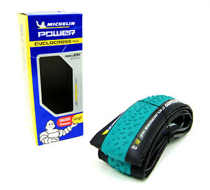 2 Two Michelin Power Cyclocross 700 x 33 Mud Tubeless Bike Tires Green//Black
