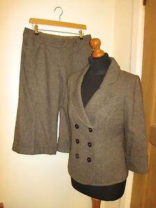 12 Pantalone giacca Crop inverno Tweedy aderente e Monsoon Unico C1C6aqv