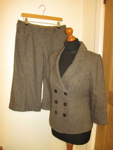 Monsoon e Unico 12 aderente Pantalone Tweedy giacca Crop inverno 1BwxUA
