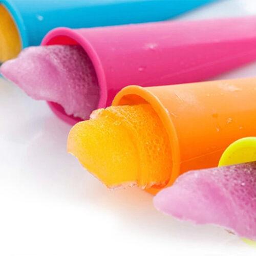 6Pcs Silicone Ice Lolly Maker Ice Pop Mold Smoothie Yogurt Popsicle À faire soi-même Moule UK