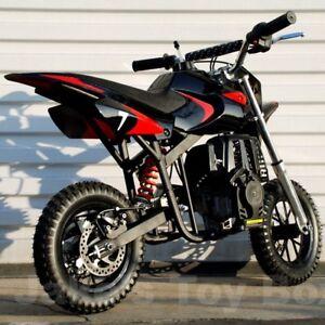 Gas Powered Kids Mini Dirt Bike 40cc Pit Bike Black Red Ebay