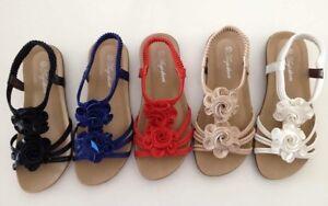 8e5f807f32cf Image is loading Women-sandals-flat-shoes-designer-auyi-ladie-039-
