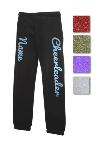 Jogginghose glitzer Aufdruck Cheerleader und Name Cheerleading versch Farben