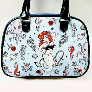 3c81571282f7 Image is loading Molly-Mermaid-Retro-Style-Bowler-Handbag