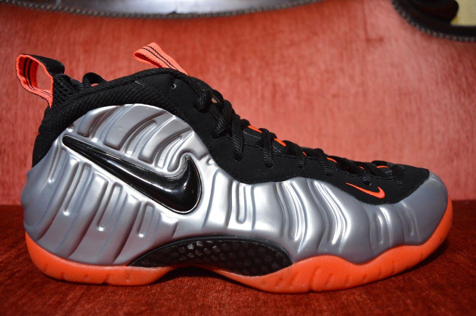 WORN TWICE 2012 Nike Air Foamposite Pro CRIMSON Silver Red 2012 TWICE Size 10.5 624041-016 872280