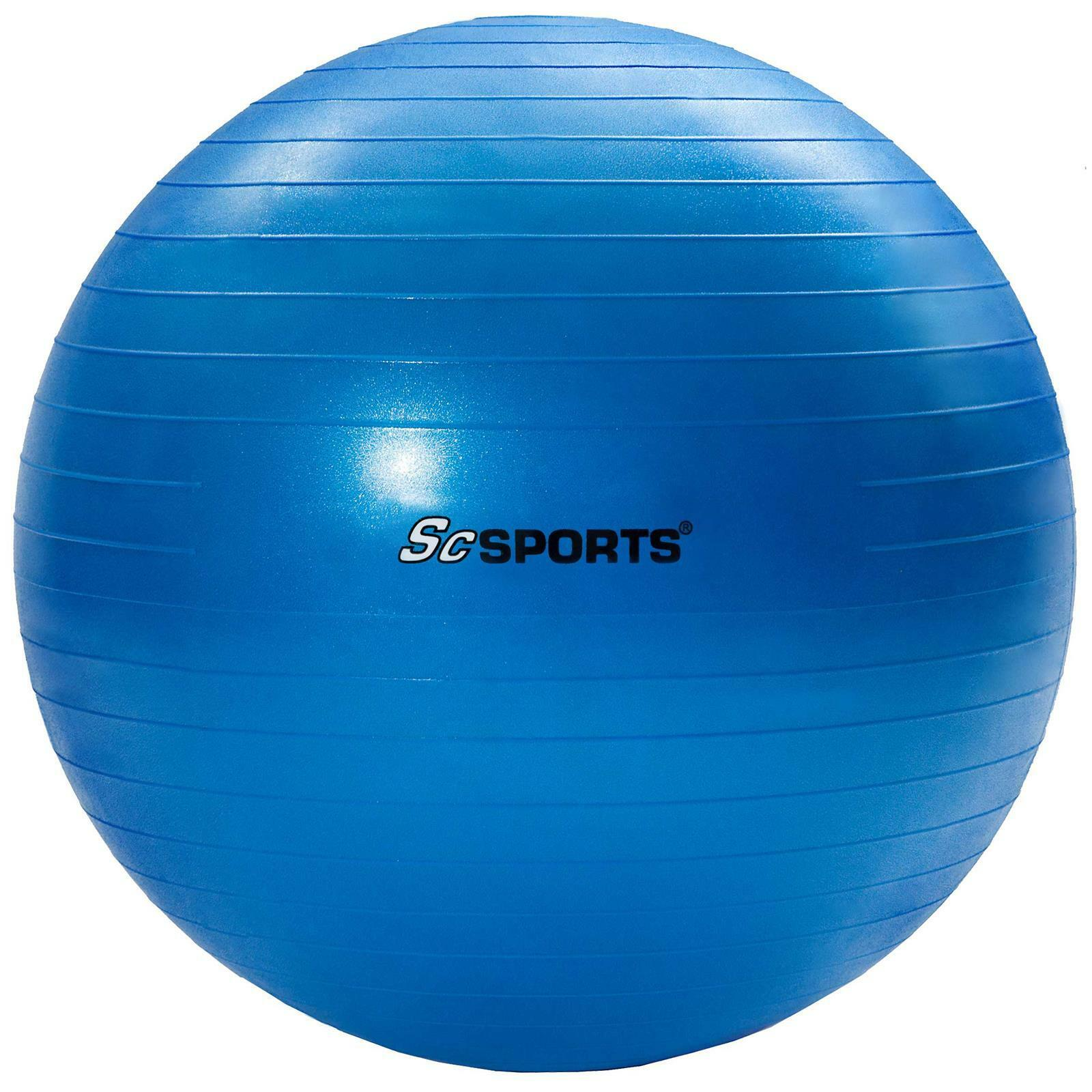 85cm Gymnastikball mit Pumpe Fitnessball Sitzball Gymball Bürostuhl Sport silber