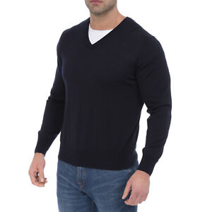 Alan Paine Lambswool Vee Neck Jumper Size 46 - Seconds Repaired Reines Und Mildes Aroma