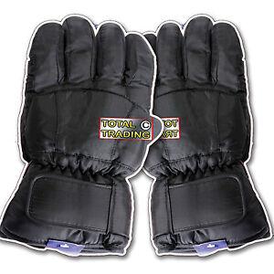 Mens-Ski-Gloves-black-THERMAL-PADDED-WARM-GLOVES-NEW