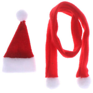 1-12-Dollhouse-Miniature-Accessories-Christmas-Hat-Scarf-Set-Decorat-Nd