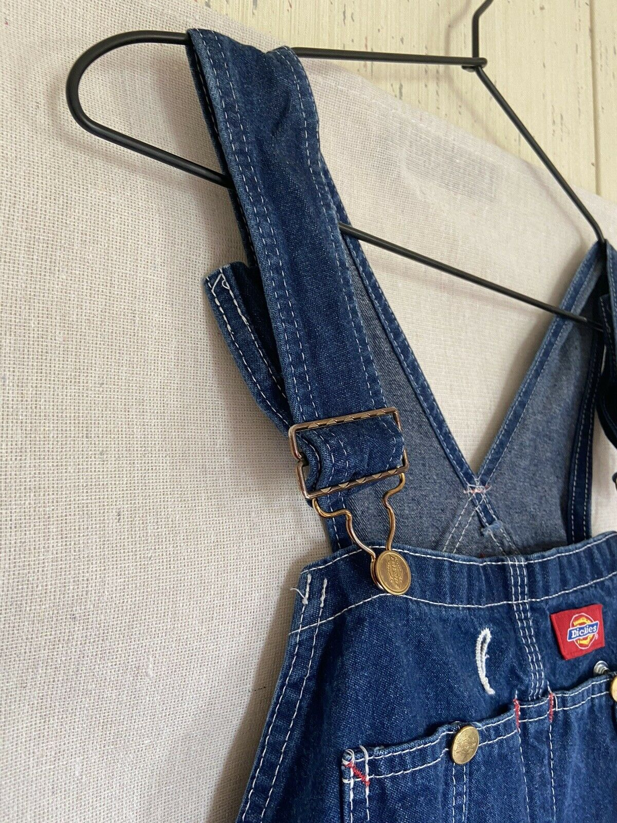 Dickies Denim Overalls Size 38x30 Fit 36x29 - image 3