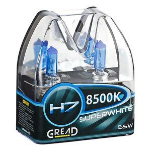 H7 BOX HALOGEN LAMPEN IN XENON OPTIK VON GREAD LIGHTS SUPER WHITE 8500K 55W