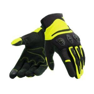 Guanti-moto-Dainese-Aerox-nero-giallo-fluo-traforati-certificati-estivi