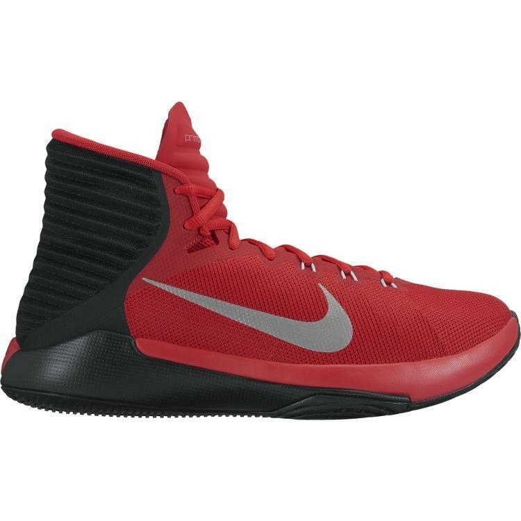 Nike Men's Prime Hype DF 2016 Basketball shoes 844787-600 Red Black