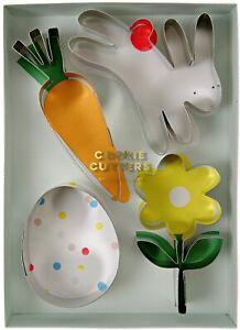 Meri Meri Easter Miniature Cookie 5 Cutters Spring Chick Egg Bunny Carrot Flower