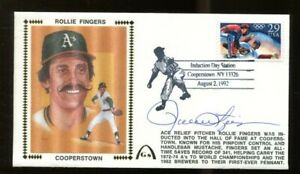Rollie-Fingers-Signed-FDC-First-Day-Cover-Autographed-039-72-74-Oakland-A-039-s-56222