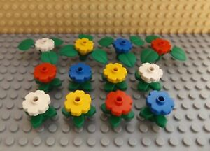 NEW LEGO FRIENDS CITY TOWN 10 x RED BUNCHES OF FLOWERS WITH STEMS /& LEAVES