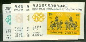 KOREA #617a 19a 21a 23a t of Olympic Souvenir sheets, og, NH, VF, Scott $40.00