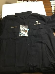 Academi// Blackwater 5.11 tactical S//S instructor embroidered  shirt 2XL Dk Navy