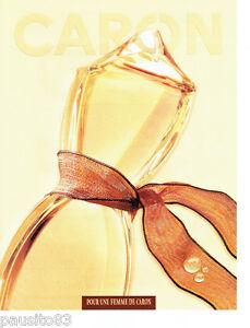 PUBLICITE ADVERTISING  026  2002  Caron parfum pour une Femme