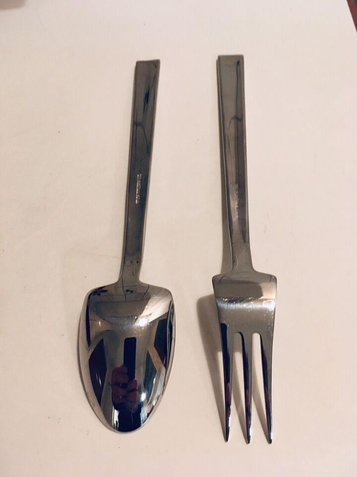 Bestik, 1 ske og 1 gaffel 18,5 cm, Menu Athene blankt