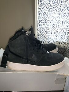 best website d8d4e 623df Image is loading Nike-air-force-1-high-07-Black-suede-