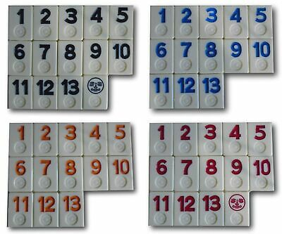 Rummikub Replacement Tile Color Number Game 400 Orange Blue Red Black You Choose