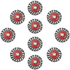 "10 Pack 4"" Twist Knot Wire Brush Wheel for Angle Grinder Rust Remover"