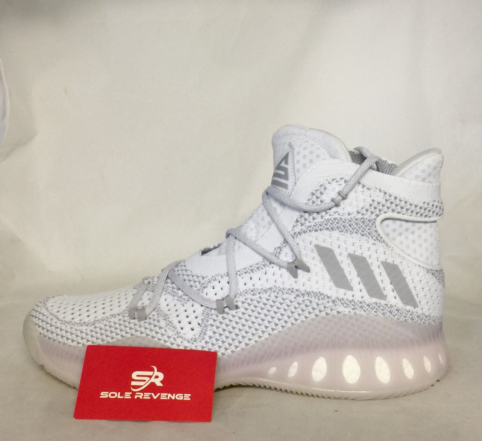 NEW! Swaggy adidas CRAZY EXPLOSIVE PRIMEKNIT Swaggy NEW! P Boost SHOES White Gray BB8897 9a90f8