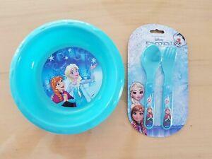 Anna /& Elsa//Frozen//Frozen//Disney//vajilla//cubiertos /& Teller
