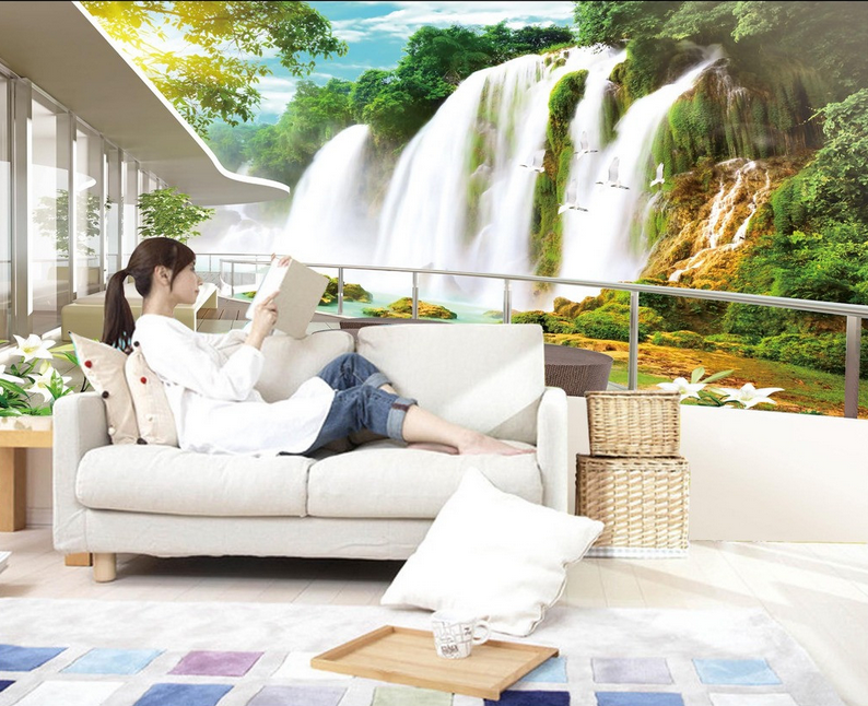 3D Mountain Stream Water 14 Paper Wall Print Wall Decal Wall Deco Indoor Murals