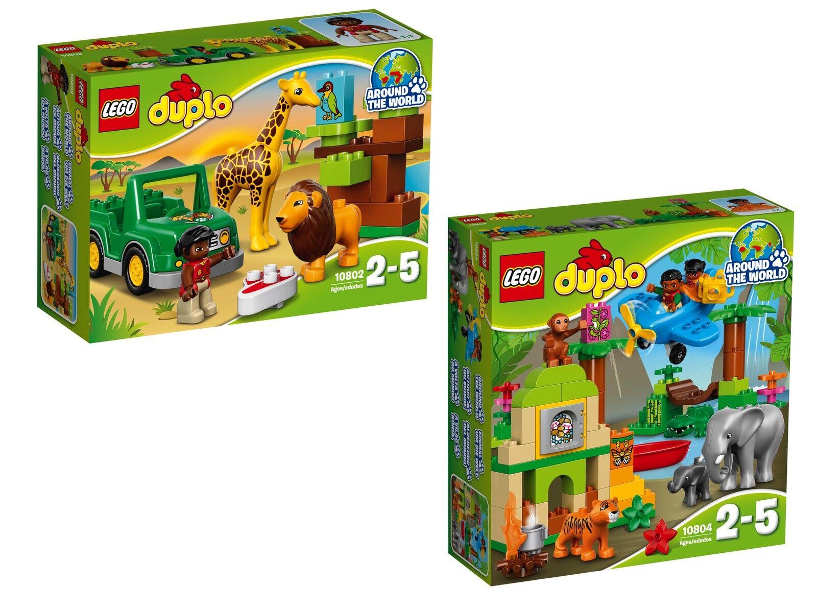 LEGO ® DUPLO ® bon Paquet 10802+10804 savane  + Jungle Neuf neuf dans sa boîte nouveau En parfait état, dans sa boîte scellée Boîte d'origine jamais ouverte  livraison gratuite!