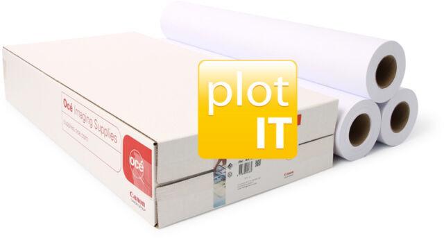 3 rolls Designjet 90 g/m² Plotter Paper 610mm x 50m A1 90gsm Canon Oce 97003452